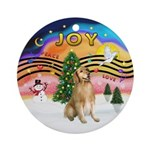 Xmas Music 2 - Golden Retriever 5 Ornament (Round)
