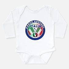 Italian Forza Azzurri Long Sleeve Infant Bodysuit