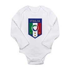 Italian Soccer emblem Long Sleeve Infant Bodysuit