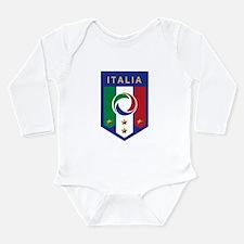 Italian Soccer emblem Long Sleeve Infant Bodysuit