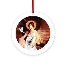 Angel 1 - White German Shepherd Ornament (Round)