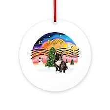 Xmas Music 2-French Bulldog (br) Ornament (Round)