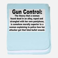 Gun Control Infant Blanket