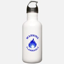 Flammable Warning (blu Water Bottle