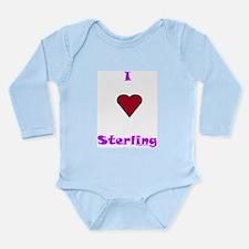 Heart Sterling Long Sleeve Infant Bodysuit