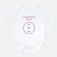 IPA - Hit Head Here Long Sleeve Infant Bodysuit