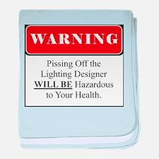 Pissing OffLighting Designer 002 baby blanket