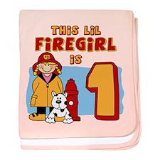 Firegirl First Birthday Infant Blanket