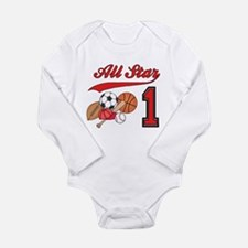 All-Star Sports First Birthda Long Sleeve Infant B
