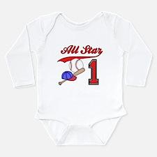 AllStar Baseball First Birthd Long Sleeve Infant B