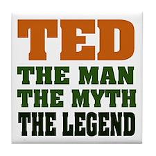 TED - The Legend Tile Coaster