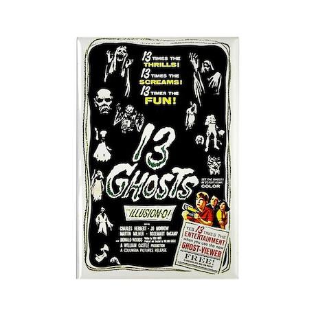 13 Ghosts Retro Vintage Horror Film Poster Magnet
