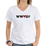 WWLD? Love Women's V-Neck T-Shirt
