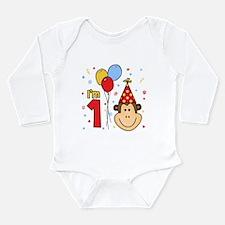 Monkey Face First Birthday Long Sleeve Infant Body