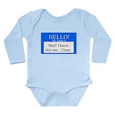 Wait! I Know This... Long Sleeve Infant Bodysuit