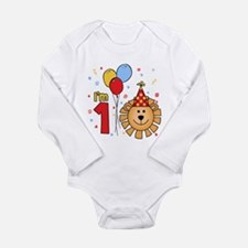 Cool Lion Face First Birthday Long Sleeve Infant B