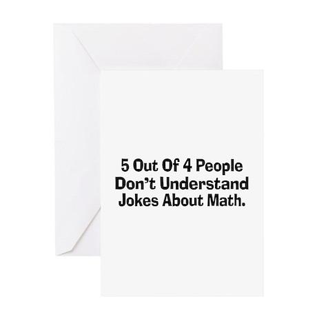Math Jokes Greeting Card