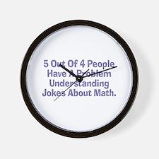 Math Jokes Wall Clock