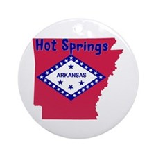 Hot Springs Ornament (Round)