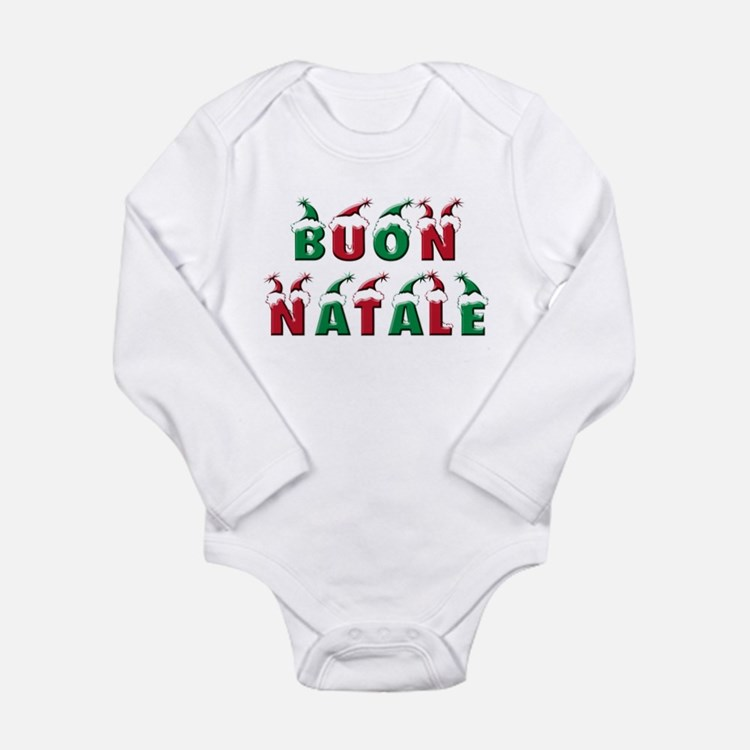 Cute Buon natale Long Sleeve Infant Bodysuit