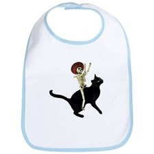 Skeleton on Cat Bib