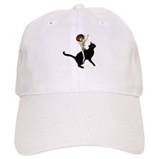 Skeleton on Cat Baseball Cap