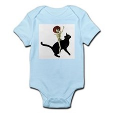 Skeleton on Cat Infant Bodysuit