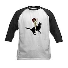 Skeleton on Cat Tee