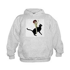 Skeleton on Cat Hoodie