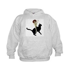 Skeleton on Cat Hoody