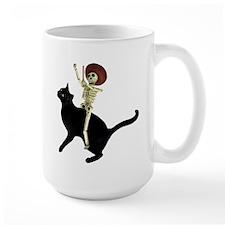 Skeleton on Cat Mug