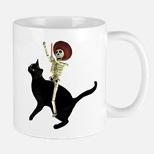 Skeleton on Cat Small Small Mug