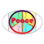 Abstract Peace Sign Sticker (Oval)