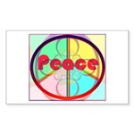 Abstract Peace Sign Sticker (Rectangle)