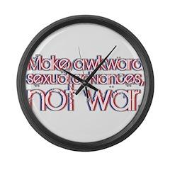 Awkward Sexual Advances Large Wall Clock
