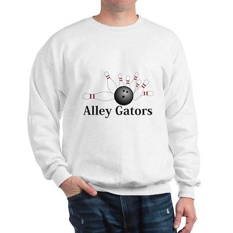 Alley Gators Logo 2 Sweatshirt Design Front Center