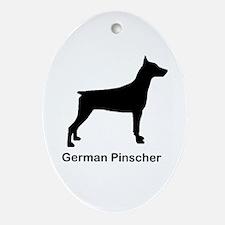 German Pinscher Ornament (Oval)
