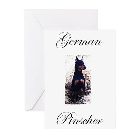 German Pinscher Greeting Cards (Pk of 10)