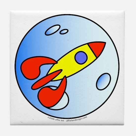 Moon Rocket! Tile Coaster