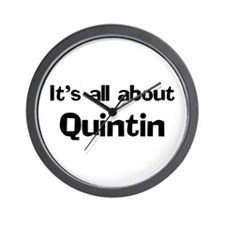 It's all about Quintin Wall Clock