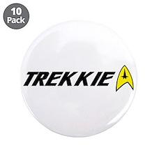 "Trekkie Command Insignia 3.5"" Button (10 pack)"