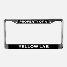 Property of Yellow Lab License Plate Frame