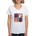 Sign Of Love Women's V-Neck T-Shirt