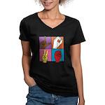 Sign Of Love Women's V-Neck Dark T-Shirt