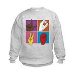 Sign Of Love Kids Sweatshirt