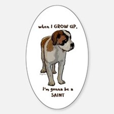 Saint Bernard puppy Oval Decal