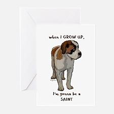 Saint Bernard puppy Greeting Cards (Pk of 10)