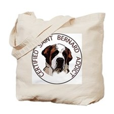 saint bernard addict Tote Bag