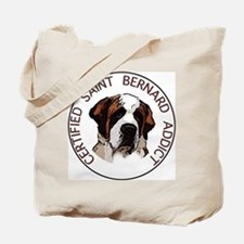 saint bernard addict Tote Bag