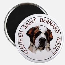 saint bernard addict Magnet